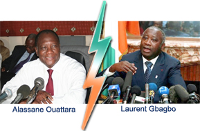 Allassane Ouattara et Laurent-Gbagbo